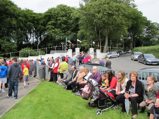 Pilgrims progressing round St Brigid's Shrine