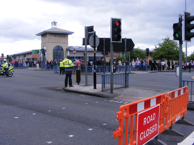 Olympic Torch Closes Road