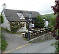 SN9667 : The Triangle Inn, Cwmdauddwr by John Grayson