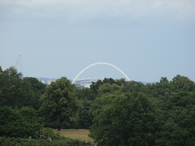 View of Wembley Stadium from Richmond Park