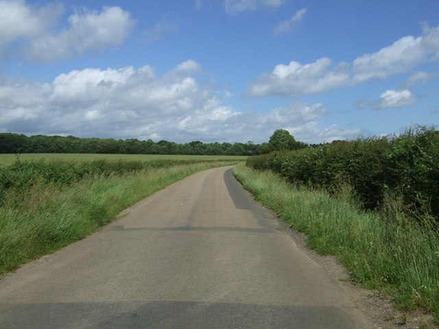 Minor road heading north towards Helpston