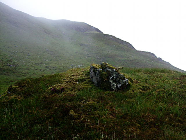 Mossy boulder in Coire Dubh
