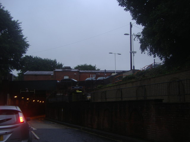 Winchester station from Stockbridge Road