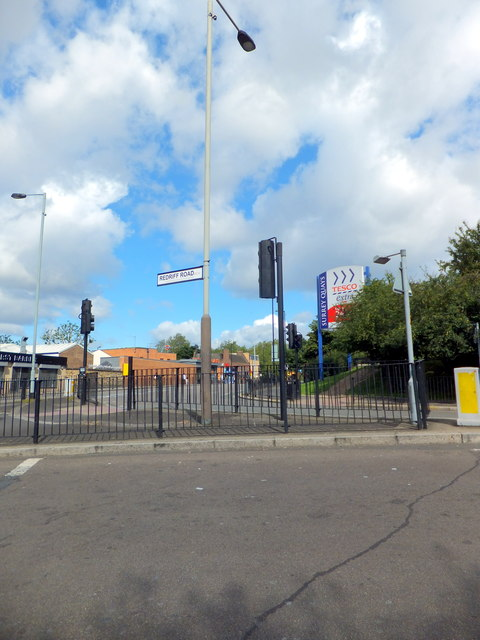 Junction of Quebec Road and Redriff Road, London