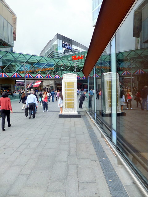 BT ArtBox outside Stratford City Westfield