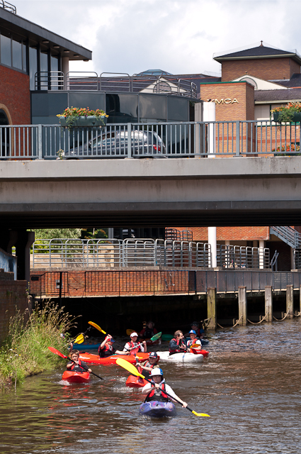 Kayaking through Guildford