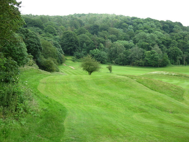 Rolling fairways of the Bakewell golf course