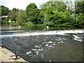 SK2168 : Weir on River Wye at Bakewell by don cload