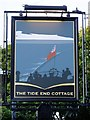 TQ1671 : Pub sign: 'The Tide End Cottage', Teddington Lock by Stefan Czapski