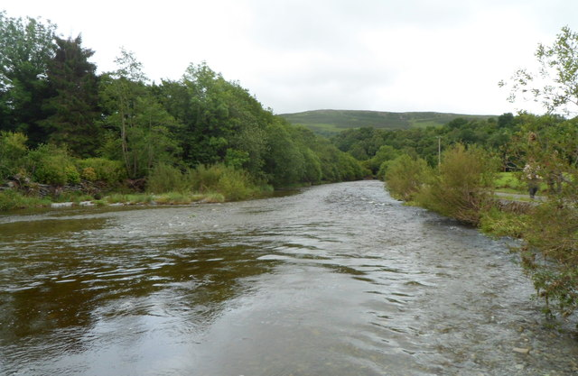 River Wye downstream from Wye Bridge, Rhayader