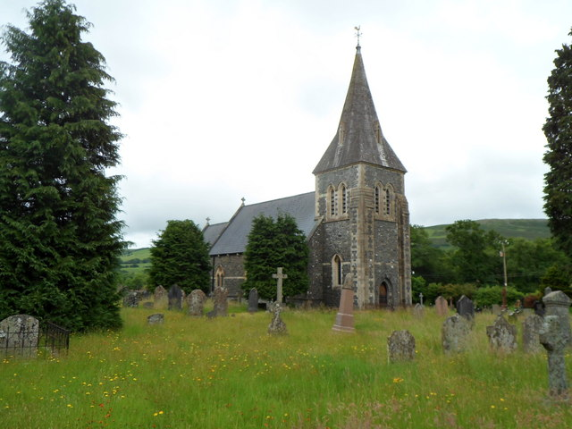 Grade II listed Church of St Bride, Cwmddaudwr
