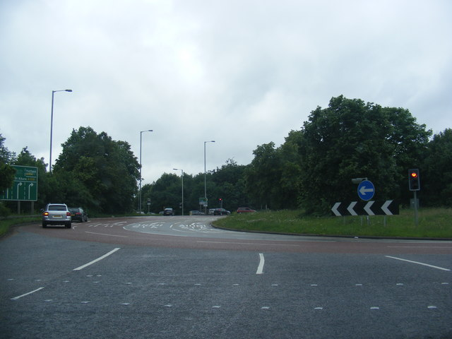 The Bell Roundabout at London Colney
