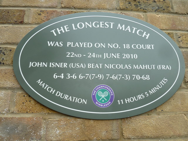 Historic plaque at Wimbledon