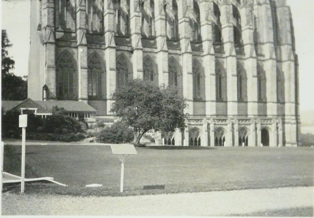 Lancing College Chapel in 1941