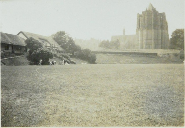 Lancing College from the east in 1941
