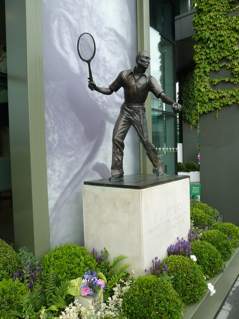 The Fred Perry Statue at Wimbledon