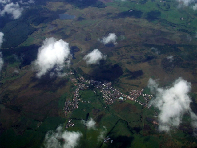 Braehead and Coalburn from the air