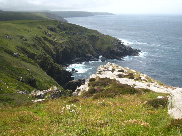 The cliff top at Carn Gloose
