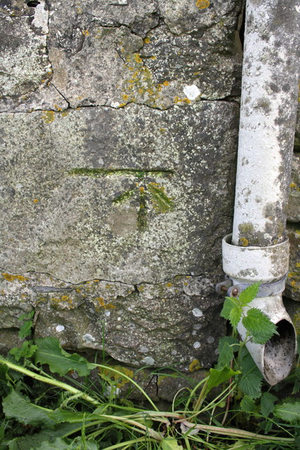 Benchmark on barn south of Ivescar