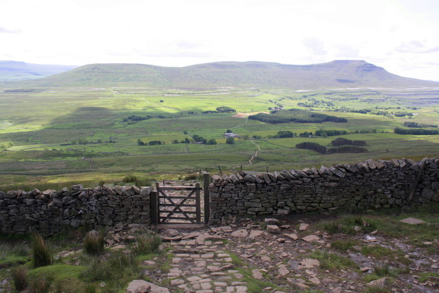 Path down from Whernside