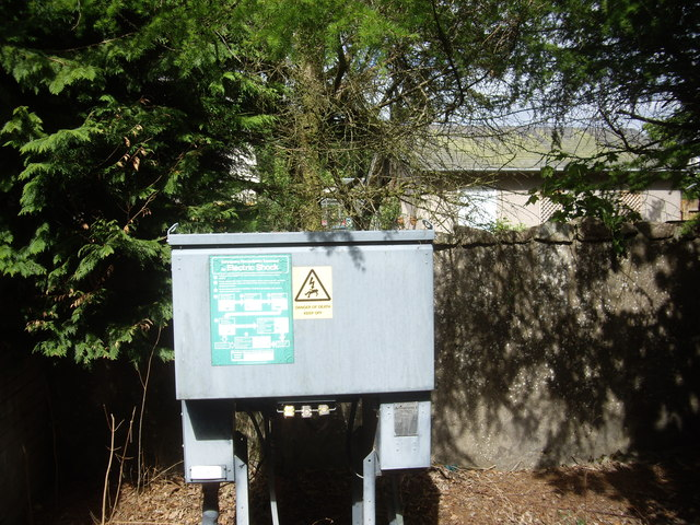 Electricity feeder point in Torphins