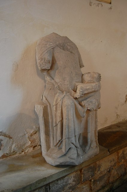 Mutilated statue of Our Lady, All saints' church, Bigby