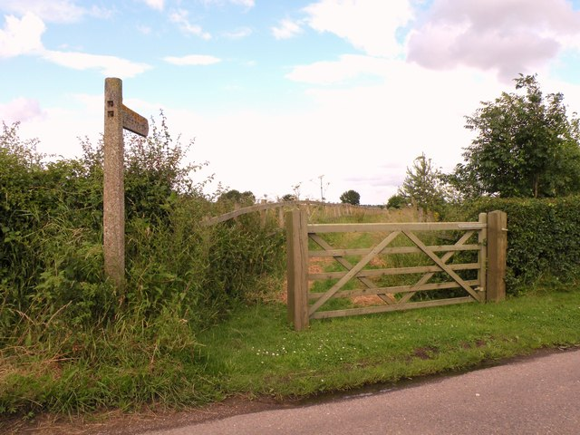 Public footpath near Borley church
