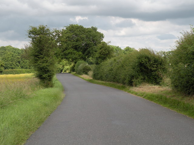 Road between Belchamp Otten and Borley