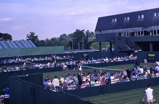 Wimbledon 1988 - Looking towards Courts 16 and 17