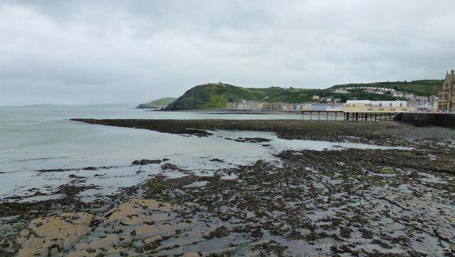 Wave-cut platform, Aberystwyth