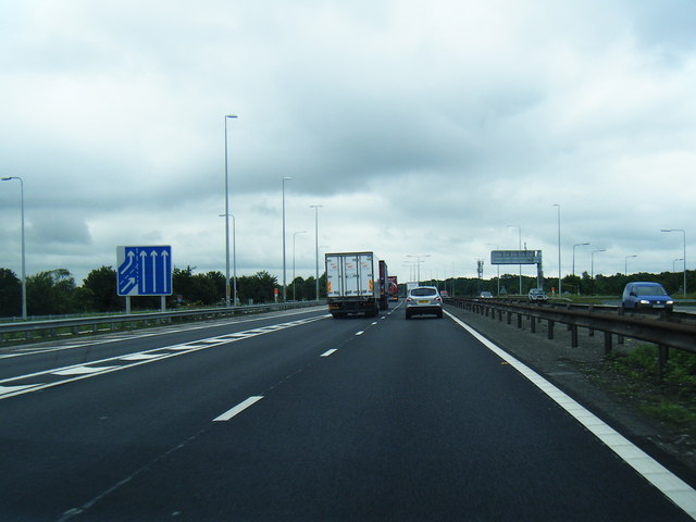 M62 eastbound at Junction 21a
