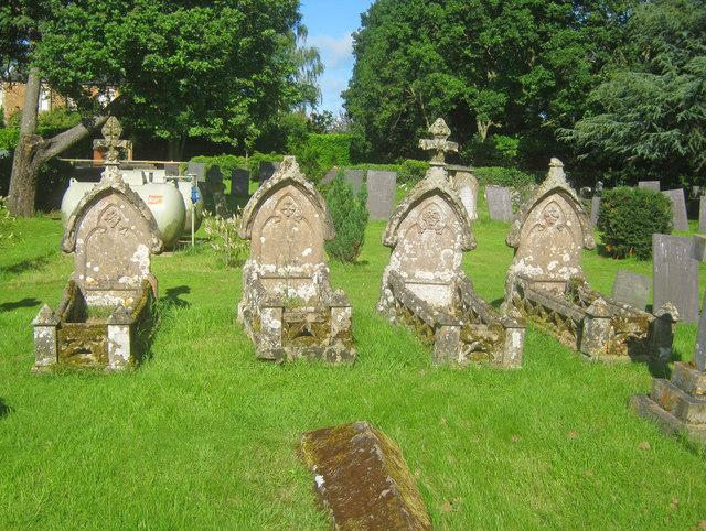 Graves in Harlaxton churchyard