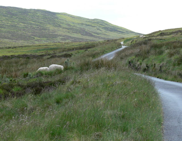 Mountain road heading to Bwlch y Groes
