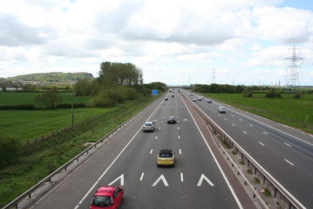 Westbound M56 from Hare's Lane bridge