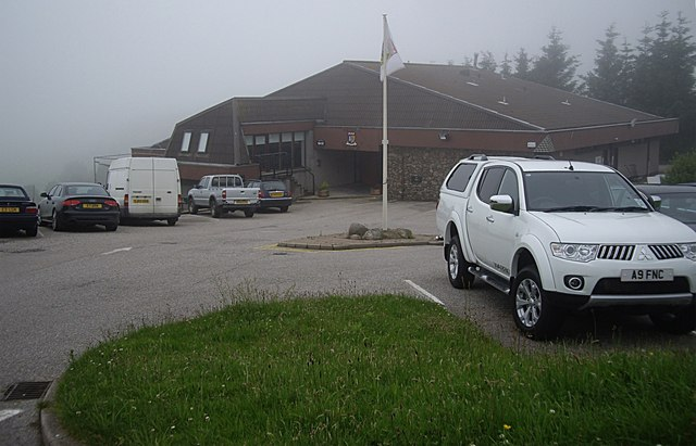 Westhill Golf Club and carpark