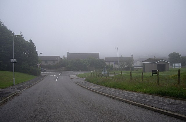 Junction of Westhill Heights with Westhill Drive