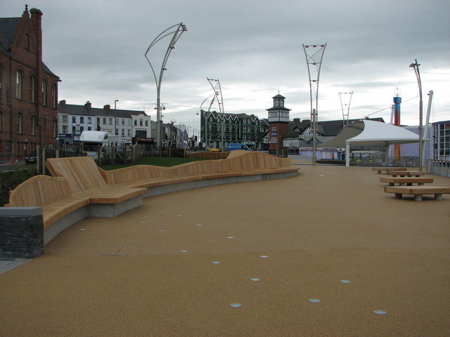 New seating and paving, Portrush