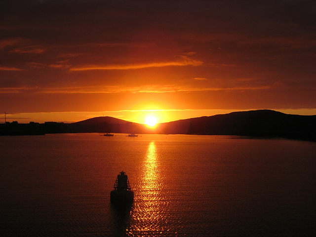 Sunset Over Lochboisdale