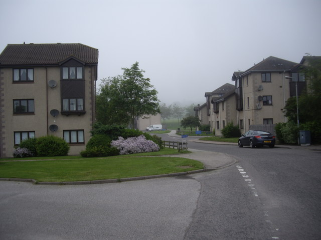 Flats behind Westhill shopping centre