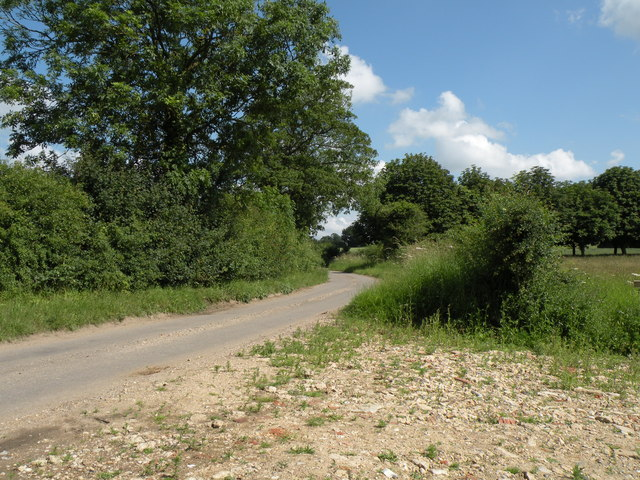 The road between Washmere Green and Humble Green