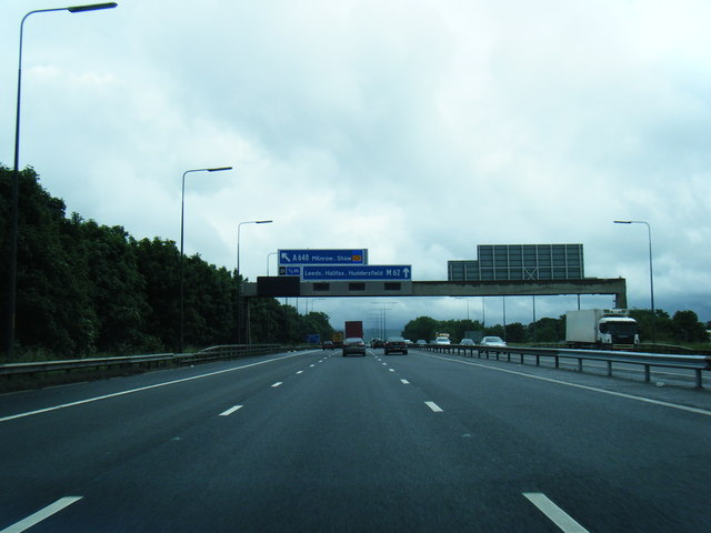 M62 eastbound at Balderstone
