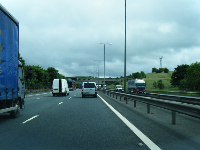 M62 at Milnrow