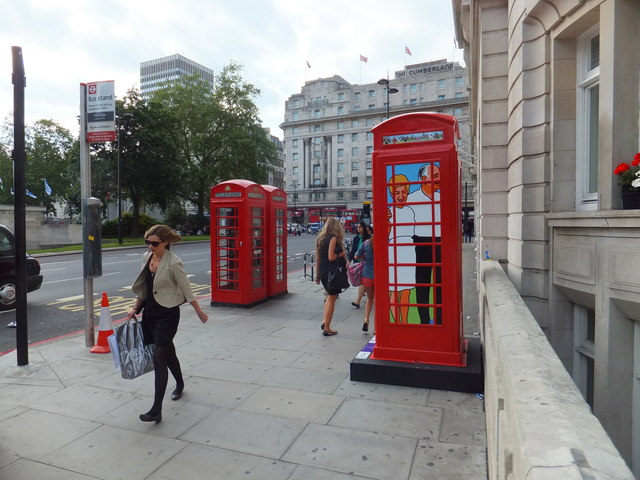 BT ArtBox in Park Lane london