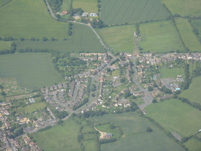 Hillfoot End from the air
