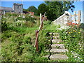TQ7749 : Steps in Boughton Monchelsea Churchyard by Marathon