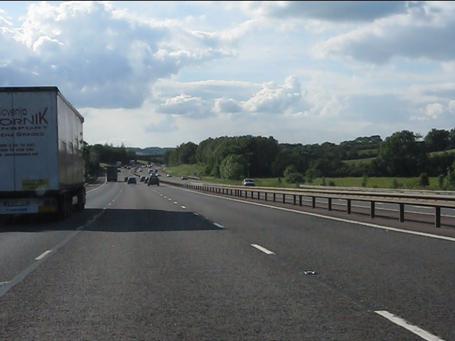 M40 motorway near Little Bourton