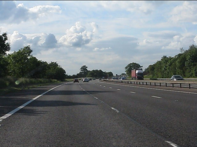 M40 motorway west of Avon Dassett