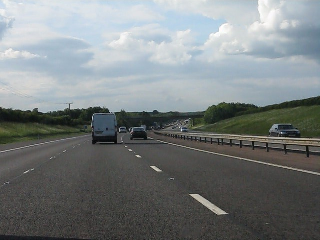 M40 motorway curving west of Northend