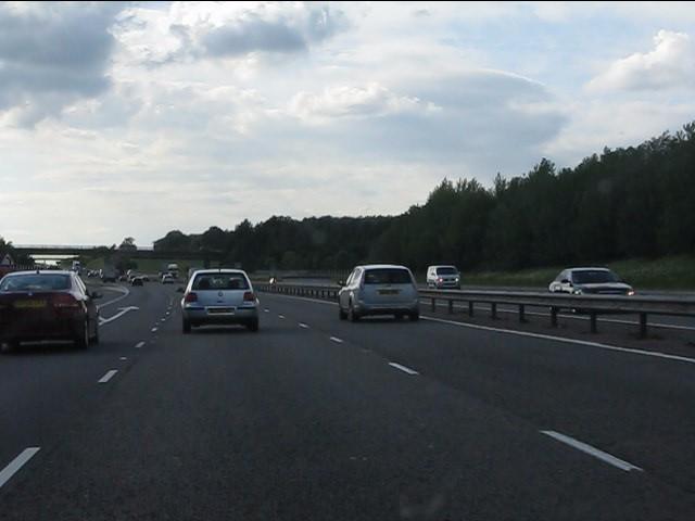 M40 motorway, northbound at junction 12 (Gaydon)