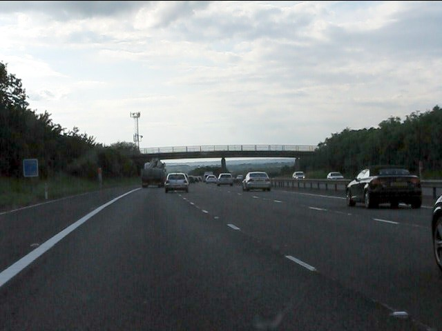M40 motorway - Checkleys Brake footbridge